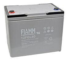 Batteria FIAMM AGM 12FGL80 80Ah 12V UPS,CAMPER,NAUTICA (12FGL120 FIAMM 12FGL100)