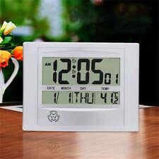 Automatic Digital Full Calendar Temperature Wall Clock Extra Large Digits Clock