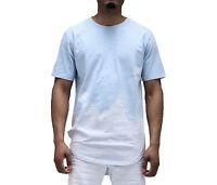 Smoke Rise Sky Blue Distressed & Bleached Longline T-Shirt