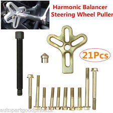 Auto Car Harmonic Balancer Steering Wheel Puller Kit Gear Crankshaft Damper Tool