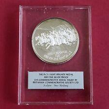 La carga de la brigada de luz 44mm BCS .999 Fina Plata Prueba De Medalla