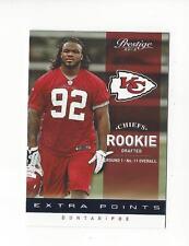 2012 Prestige Extra Points Blue #224 Dontari Poe Rookie Chiefs /999