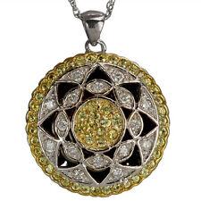 Vintage Necklaces Antique Necklace Pendant Diamonds And Yellow Sapphires 14k