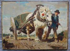 julius paul  junghanns tiermalerei pferd heimkehr vom feld 1876 wien 1958 düs