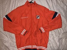 Fila tennis sony ericsson open red jacket size Large mens