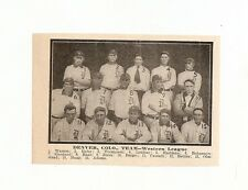 Denver Grizzlies 1909 Team Picture Charlie Jones Ira Belden Harry Cassady