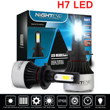 Nighteye 72W 9000LM H7 LED Headlight Kit Bulbs Lights Lamp Auto 6500K White US