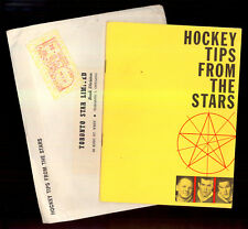 1963 MAPLE LEAFS HOCKEY TIPS FROM THE STARS booklet HORTON KEON +Orig Envelop