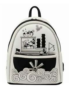 Loungefly Mini Backpack Steamboat Willie Music Cruise new Official Disney White