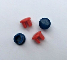 Tap Top Indices Buttons Red Blue 8mm  2 Pairs                                 L4