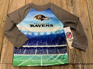 NWT Boys Baltimore Ravens Multi-Color Long Sleeve Performance Shirt 18 Months