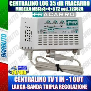 FRACARRO 223620 MBJ EVO CENTRALINO TV 1 INGRESSO LOG 35dB MODELLO MBJ3r3+4+5 T2