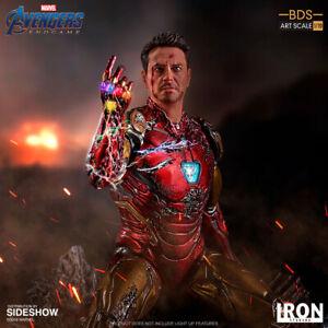 Iron Studios Marvel Avengers Endgame I Am Iron Man Art Scale Statue New In Stock