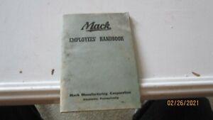 Vintage Mack Truck Employees Handbook July 1 1943