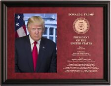 Donald Trump President of the United States framed & engraved photo plaque #4