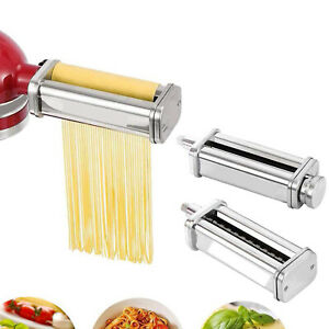 Pasta Roller Cutter Maker 3 pieces Stand Mixer attachment Tool New Stainless