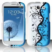 For Samsung Galaxy S3 i9300 Design Rubberized Snap-On Hard Case Phone Cover
