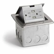 Lew Electric PUFP-CT-SS-2USB Countertop Box, Pop Up w/15A & Single Power/2 USB