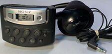 * Sony Walkman Weather Fm/Am Radio Srf-M37W with Mdr-013 Headphones *