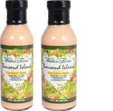 Walden Farms Zero Calorie Free Salad Dressing 1000 Thousand Island 2 Pack