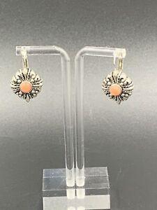 Joseph Esposito Espo Sterling Coral Earrings