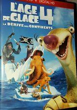 DVD du dessin animé L'ÂGE DE GLACE 4 : la dérive des continents