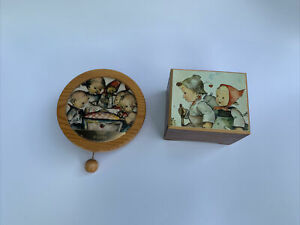 Swiss Musical Movement Reuge Pull String Wall Mount M.I. Hummel 2 Music Boxes