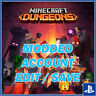 Minecraft Dungeons [PS4] Maxed Emeralds, Level, Item Power, Threat Level + More
