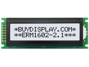 5V Wide Angle 16x2 Character LCD Module w/Tutorial,HD44780,Black on White