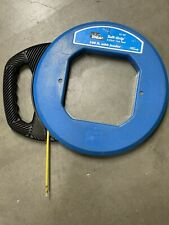 Ideal 31-061 fiberglass fish tape 100' used Missing Tip.