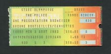 1983 Police Stevie Ray Vaughan Talking Heads Concert Ticket Stub Montreal Canada
