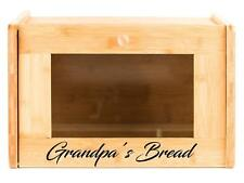 Personalized Bread Box - Kitchen Food Storage