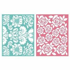 """Quickutz Embossing folder """"Floral"""" A2 card making  2 folders double pack"""