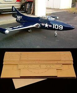 "72"" wingspan F9F Panther R/c Plane short kit/semi kit and plans"