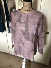 BC BEST CONNECTIONS  Dusky Pink Grey Long Sleeve Sequin Trim Top Size 10/12 NEW