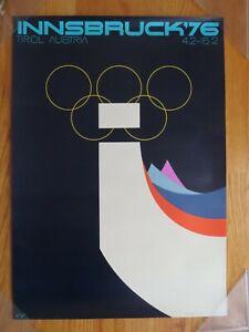 Original 1976 INNSBRUCK TYROL AUSTRIA Poster WINTER OLYMPICS DOROTHY HAMILL
