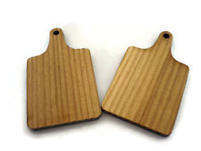 Set of 2 Paddle Cutting Board  Kitchen Accessories Dollhouse Miniatures