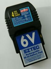 EZTEC 4 Hour Quick Charger 6V Ni-Cd Charger & Battery Pack EZ TEC R/C RC