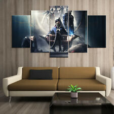 Cartoon Dishonored 2 Throne Canvas Prints Poster Painting Art No Frame 5 Pieces