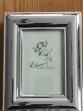 """Elegance Silver Plated Jewelry Box new 8.5 x 6.5"""" Hinged Photo Top Insert"""