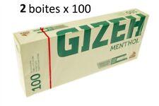 Boîte De 200 Tubes À Cigarettes Menthol - Gizeh