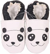 shoeszoo panda white 2-3y S soft sole leather toddler shoes