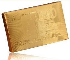HIGH QUALITY GOLD FOIL PLAYING CARDS NEWEST 500 EURO Bill USA STOCK!