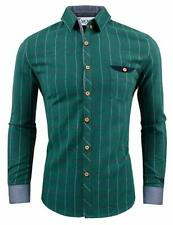 TAM WARE Mens Classic Slim Fit Tartan Plaid Longsleeve Shirt -GREEN, US XL - NEW