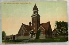 Antique Postcard 1912 Old School Presbyterian Church Paris Texas