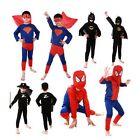 Boys Kids Children Spiderman Superhero Batman Superman Costume Cosplay Party