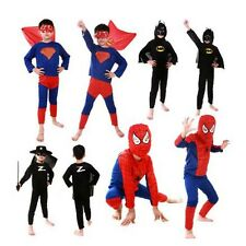 Boys Kids Children Spiderman Superhero Batman Superman Costume Cosplay Party