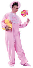 Be My Baby Pink Adult Sized Footed Front-zip Pajama Jumpsuit Toy Prop