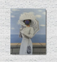 "Rene Magritte Oil Painting The Great War 1964 Hand-Painted on Canvas 24""x32"""