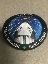 "SPACEX NASA Demo-1 Crew Dragon Mission Patch ""Dragon Capsule"" 2 March 2019"
